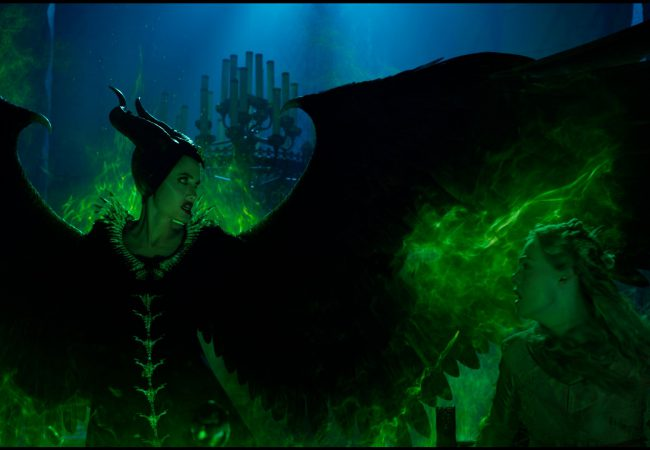 Angelina Jolie is Maleficent and Elle Fanning is Aurora in Disney's MALEFICENT:  MISTRESS OF EVIL.